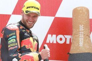 Podium: tweede plaats Brad Binder, KTM Ajo