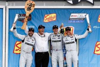 #55 Mazda Team Joest Mazda DPi, DPi: Jonathan Bomarito, Harry Tincknell, Olivier Pla, podium, John Doonan