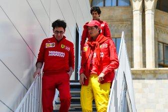 Mattia Binotto, Team Principal Ferrari and John Elkann, Chairman Fiat Chrysler Automobiles
