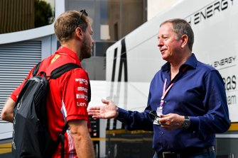 Sebastian Vettel, Ferrari and Martin Brundle, Sky TV