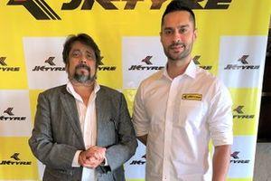 Sanjay Sharma Head- Motorsport, JK Tyre with Gaurav Gill