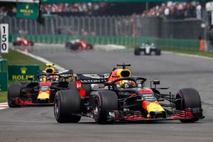 Daniel Ricciardo, Red Bull Racing RB14 leads Max Verstappen, Red Bull Racing RB14