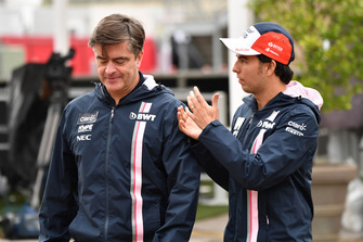 Andy Stevenson, Racing Point Force India F1 Team Manager en Sergio Perez, Racing Point Force India