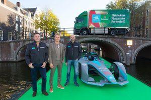 Founder CEO of Formula E Alejandro Agag, Formula E investor, Heineken ambassador Nico Rosberg and Senior Director Global Heineken brand at HEINEKEN Gianluca Di Tondo