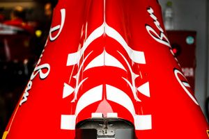 Philip Morris Mission Winnow branding on the Ferrari SF71H