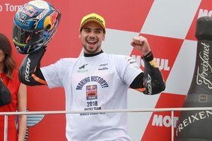 Podium: race winner Miguel Oliveira, Red Bull KTM Ajo