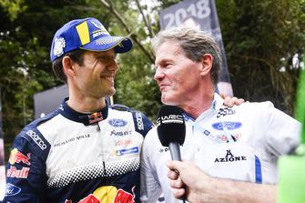 Le Champion WRC 2018 Sébastien Ogier, M-Sport Ford, avec Malcolm Wilson