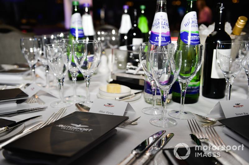 Table setting for Oliver Turvey