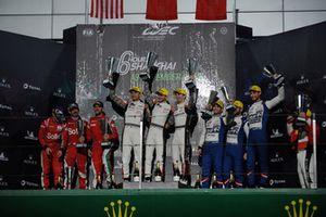 P2 Podium, #38 Jackie Chan DC Racing Oreca 07 Gibson: Ho-Ping Tung, Gabriel Aubry, Stéphane Richelmi