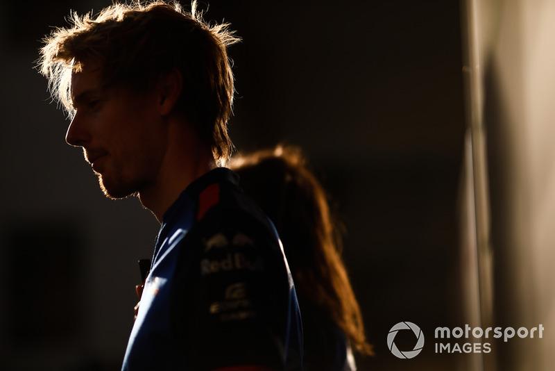 Brendon Hartley, Scuderia Toro Rosso, con los medios
