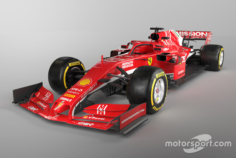 3D mock-up concept of a 2019 Ferrari