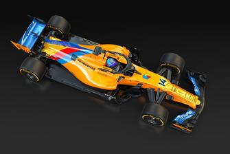 Livrée spéciale pour la dernière course de Fernando Alonso, McLaren MCL33