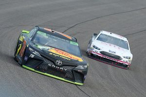 Martin Truex Jr., Furniture Row Racing, Toyota Camry Bass Pro Shops/5-hour ENERGY and J.J. Yeley, BK Racing, Toyota Camry She Beverage Company