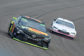 Martin Truex Jr., Furniture Row Racing, Toyota Camry Bass Pro Shops/5-hour ENERGY, J.J. Yeley, BK Racing, Toyota Camry She Beverage Company