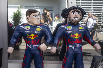 Max Verstappen, Red Bull Racing and Daniel Ricciardo, Red Bull Racing RB14 sculptures