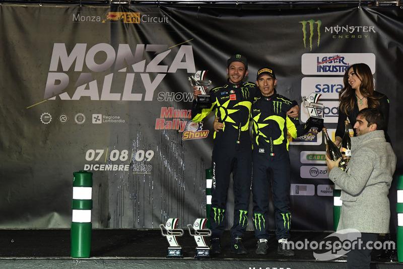 Valentino Rossi et Carlo Cassina, vainqueurs du Monza Rally Show