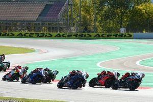 Tom Sykes, BMW Motorrad WorldSBK Team, Scott Redding, Aruba.it Racing Ducati, Loris Baz, Ten Kate Racing Yamaha