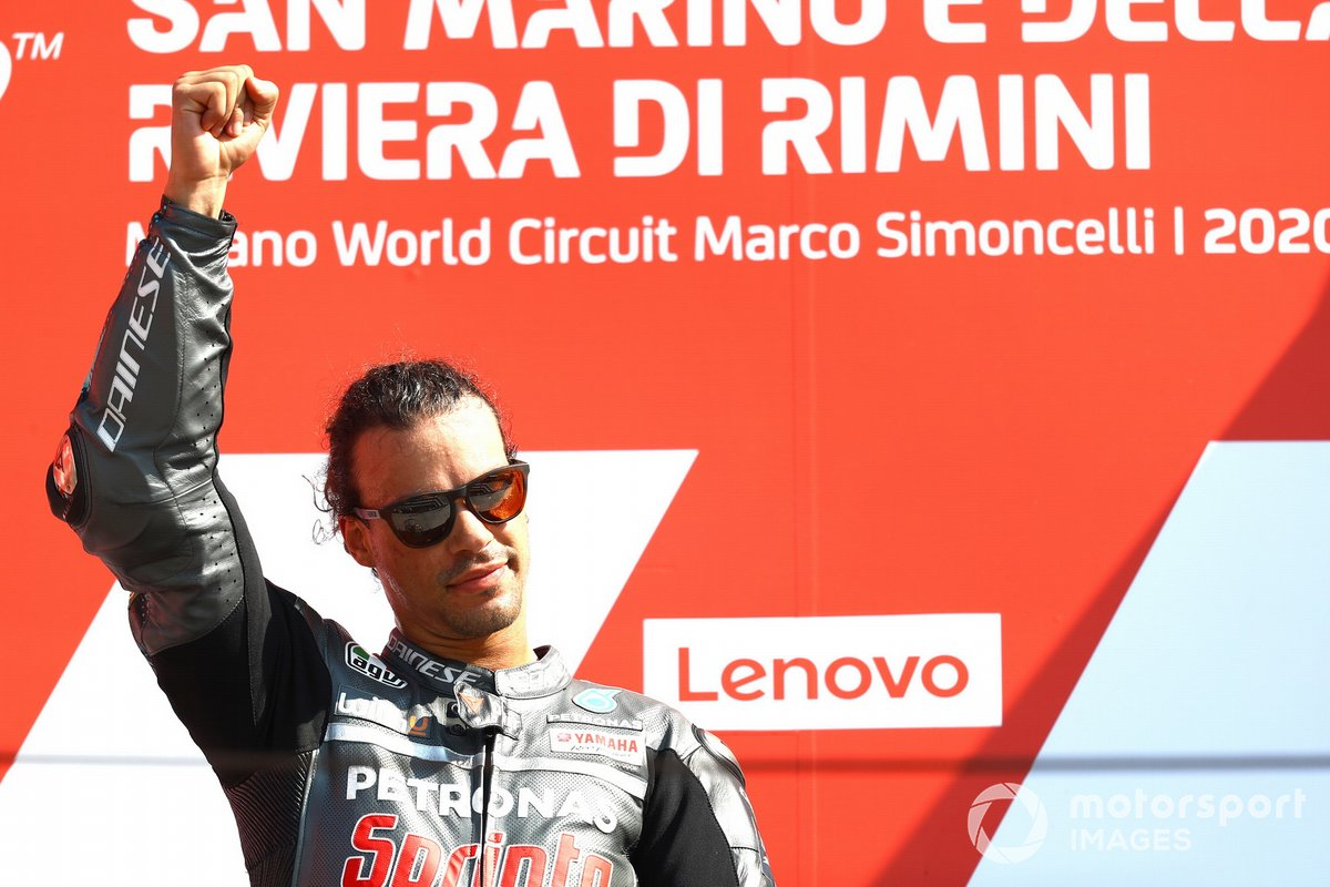 Podio: ganador Franco Morbidelli, Petronas Yamaha SRT
