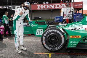 Polesitter Colton Herta, Andretti Harding Steinbrenner Autosport Honda