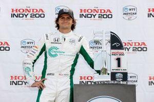 Colton Herta, Andretti Harding Steinbrenner Autosport Honda, podium