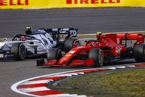 Charles Leclerc, Ferrari SF1000, battles with Pierre Gasly, AlphaTauri AT01
