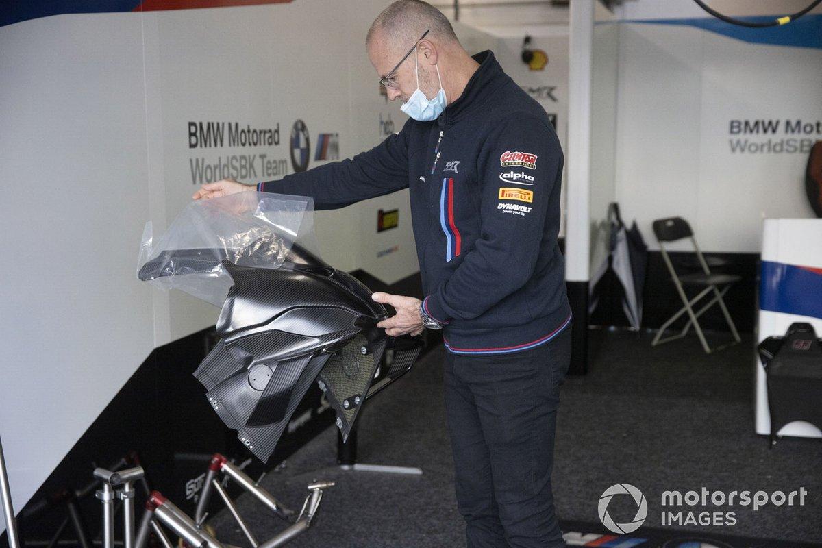 Shaun Muir, BMW Motorrad WorldSBK Team con il nuovo cupolino per la BMW S1000RR del prossimo anno