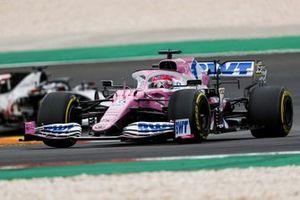 Sergio Perez, Racing Point RP20, Romain Grosjean, Haas VF-20