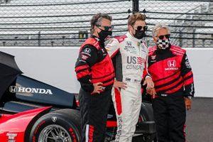 Marco Andretti, Andretti Herta with Marco & Curb-Agajanian Honda, mit Vater Michael Andretti und Großvater Mario Andretti
