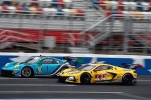 #16 Wright Motorsports Porsche 911 GT3 R, GTD: Ryan Hardwick, Patrick Long, #3 Corvette Racing Corvette C8.R, GTLM: Antonio Garcia, Jordan Taylor