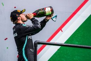 Valtteri Bottas, Mercedes-AMG F1, 2nd position, drinks Champagne on the podium