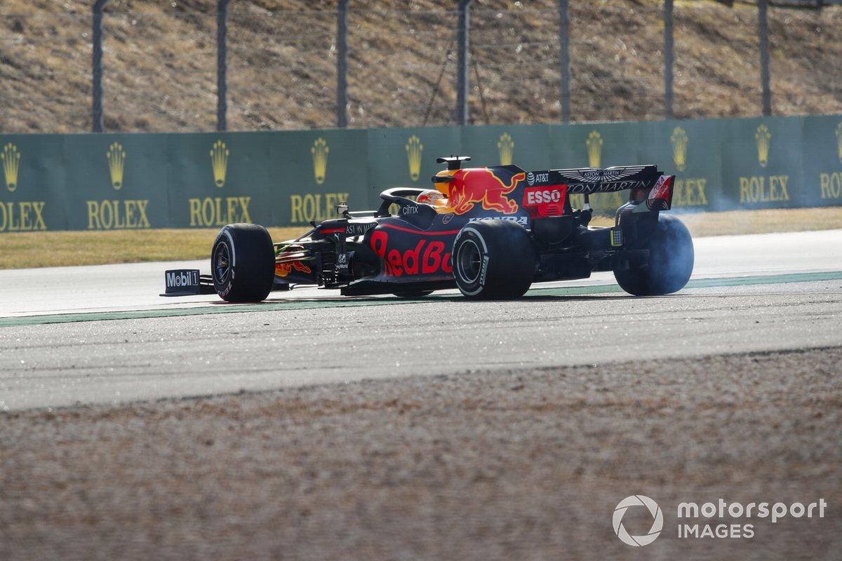 Max Verstappen, Red Bull Racing RB16 testacoda
