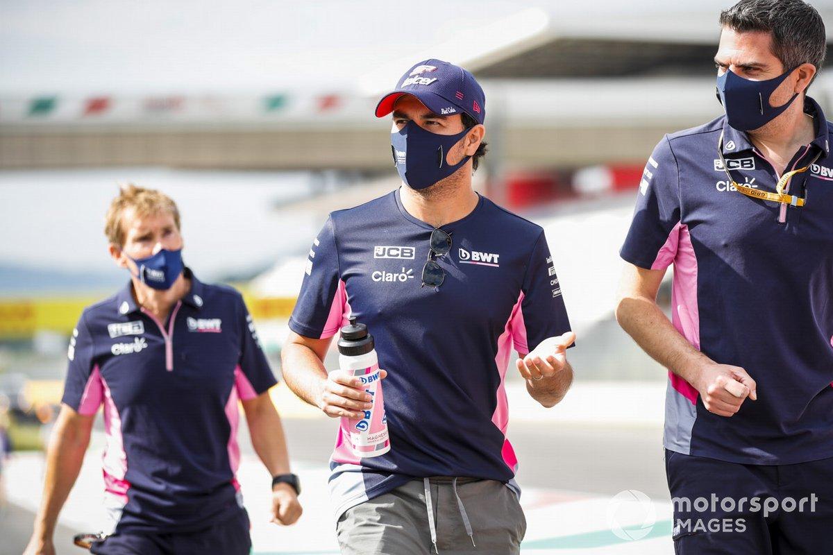 Sergio Perez, Racing Point scende in pista con i suoi ingegneri