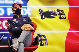 Sergio Perez, Red Bull Racing, in de persconferentie