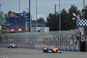 Race winner Alex Palou, Chip Ganassi Racing Honda
