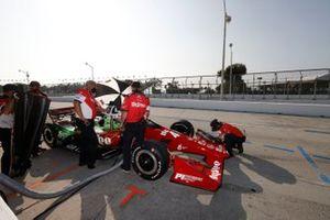 Oliver Askew, Rahal Letterman Lanigan Racing Honda, et des membres de l'équipe