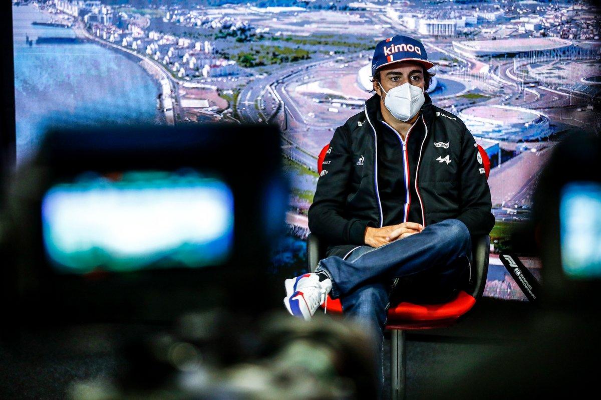 Fernando Alonso, Alpine F1 en la rueda de prensa