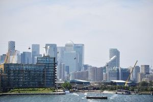 A scenic view of the dock area close to the ExCeL Formula E track