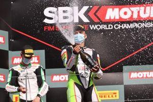 1. Adrian Huertas, MTM Kawasaki, 2. Tom Booth-Amos, Fusport - Rt Motorsports by SKM Kawasaki