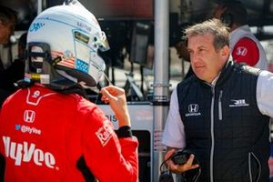 Oliver Askew, Rahal Letterman Lanigan Racing Honda with team president Piers Phillips