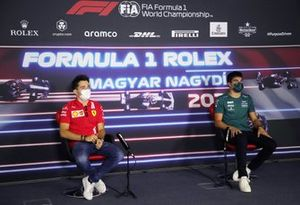 Charles Leclerc, Ferrari and Lance Stroll, Aston Martin
