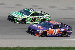 Kyle Busch, Joe Gibbs Racing, Toyota Camry Interstate Batteries Denny Hamlin, Joe Gibbs Racing, Toyota Camry FedEx Office