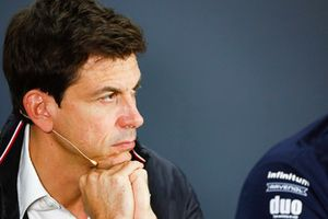 Toto Wolff, Mercedes AMG F1 Director of Motorsport in a press conference