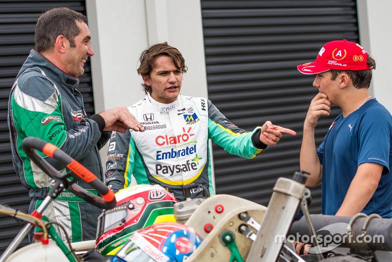 Pietro Fittipaldi, Max Papis e Enzo Fittipaldi