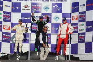 Gara podio TCR DSG, Giuseppe Montalbano (Seat Leon Cupra TCR-DSG #16), Matteo Bergonzini (Seat Leon Racer-TCR DSG #72), Alessandro Thellung (Seat Leon Racer-TCR DSG ##23)