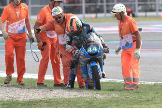 Aron Canet, Estrella Galicia 0,0 after crashing