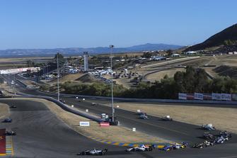 Pietro Fittipaldi, Dale Coyne Racing Honda, Alexander Rossi, Andretti Autosport Honda