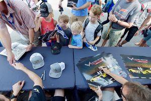 #3 Corvette Racing Chevrolet Corvette C7.R, GTLM - Antonio Garcia, Jan Magnussen ,#4 Corvette Racing Chevrolet Corvette C7.R, GTLM - Oliver Gavin, Tommy Milner, signs autographs for fans