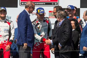 Podium: Winners Ott Tänak, Martin Järveoja, Toyota Gazoo Racing WRT Toyota Yaris WRC