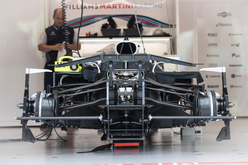 La Williams FW41 au garage