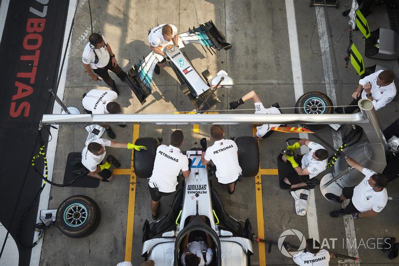 Valtteri Bottas, wymiana nosa w Mercedes AMG F1 W09